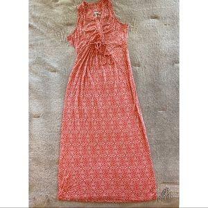 Motherhood Maternity Sleeveless Coral Dress
